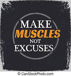 non, discolparsi, fare, muscoli