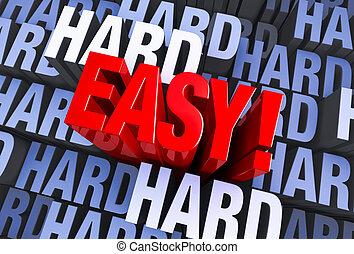 non, duro, facile