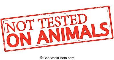 non, esaminato, su, animali