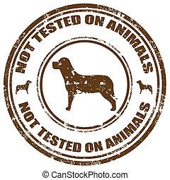 non, esaminato, su, animals-stamp