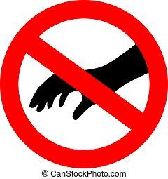 non faccia, vettore, segno, tocco, sicurezza