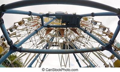 Non-functioning Ferris wheel at a popular beach in Nha...