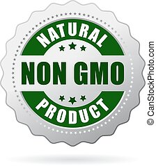 Non gmo product icon isolated on white background