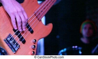 non identifié, guitariste, basse, musicien, vivant, étape