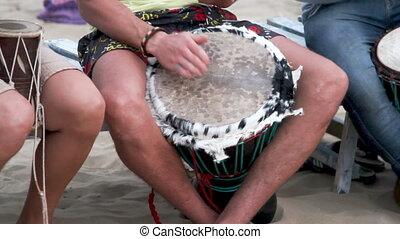 non identifié, tambour, jouer, homme