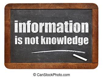 non, informazioni, conoscenza, Citazione