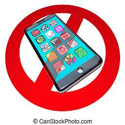 non, intelligent, téléphones, faire, pas, appeler, parler, sur, téléphone portable, téléphone