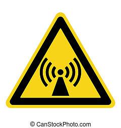 non ionized radiation sign