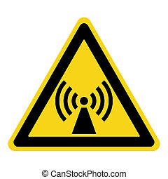 non ionized radiation sign