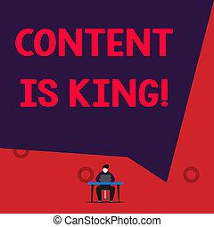 non, king., texto, mostrando, busca, visibilidade, sinal, conteúdo, crescendo, focalizado, pago, foto, results., conceitual, marketing