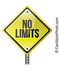 non, limite, signe, concept