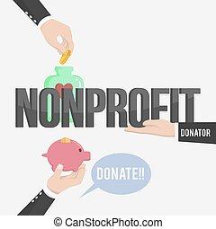 non, lucro, ilustração