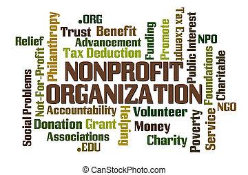 non, lucro, organização