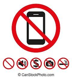 non, photo, prohibition, signe, vecteur, illustration
