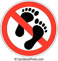 non, pieds, nu