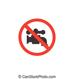 Non potable water icon design template vector isolated...