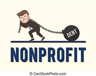 Non profit bad business illustration