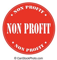 Non Profit - Red stamp with text Non Profit,vector...