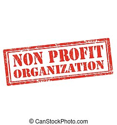 Non Profit Organization - Grunge rubber stamp with text Non...