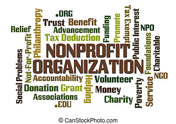 Non Profit Organization word cloud on white background
