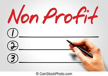 Non Profit blank list concept