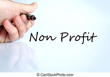 Non Profit - Human hand writing Non Profit isolated over...