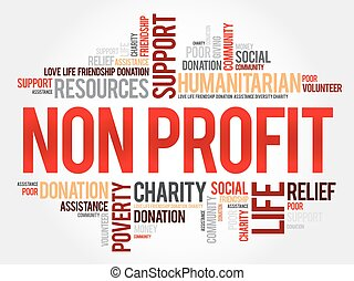 Non Profit word cloud concept