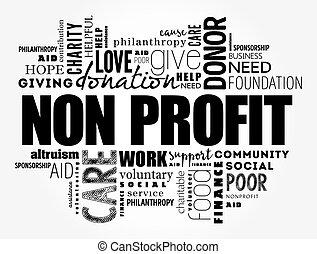 Non Profit word cloud, social concept background
