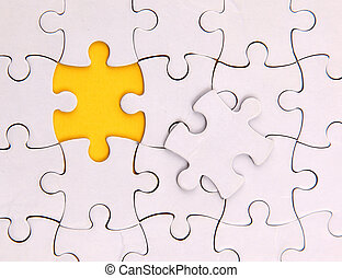 non, puzzle, là, une, élément, vide