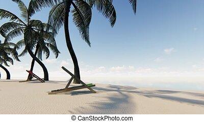 non, seamless, vide, gens, sable, métrage, plage