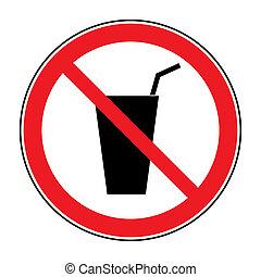 non, signe, boisson