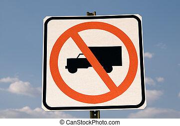 non, signe, camion