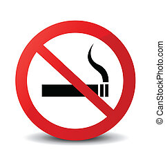 non, signe, fumer