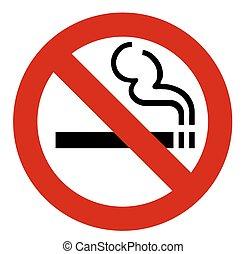 non, signe, fumer, vecteur
