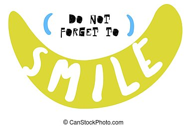 non, sorriso, dimenticare