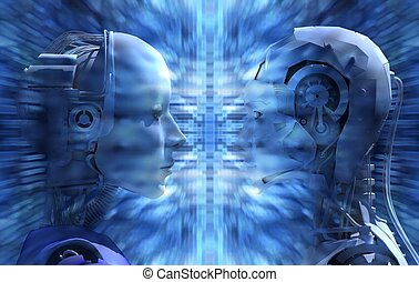 non, tecnologia, androids, essere d'accordo