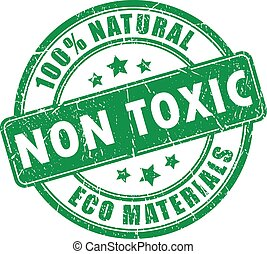 Non toxic product stamp on white background