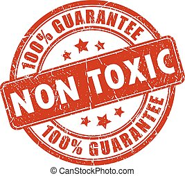 Non toxic stamp on white background