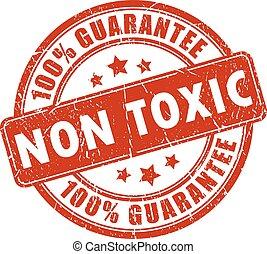 Non toxic stamp on white background