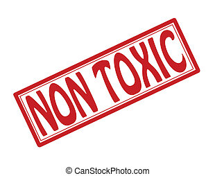 Non toxic - Stamp with text non toxic inside, vector...
