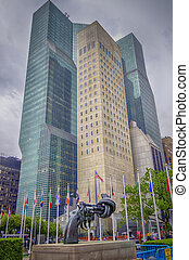 Non Violence Sculpture at UN - NEW YORK - MAY 28: Non...