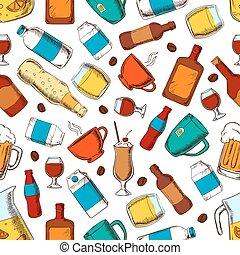 nonalcoholic, 飲み物, アルコール, パターン
