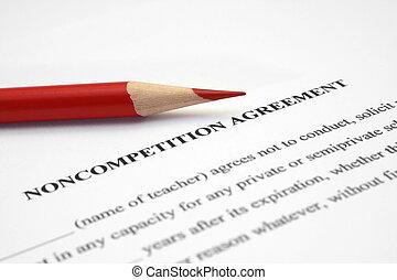noncompetition, 合意