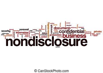 nondisclosure, 単語, 雲