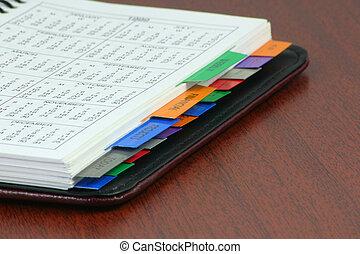 personal organizer book