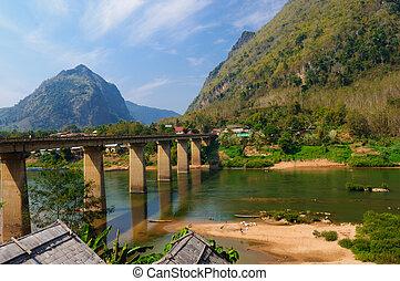Nong khiaw mega Bridge, Nong Khiaw, Laos