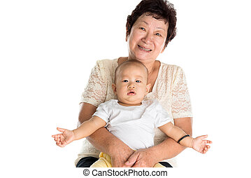 nonna, grandson.