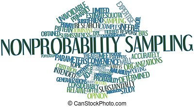 Nonprobability sampling - Abstract word cloud for...