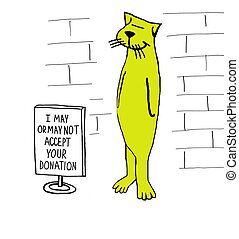Nonprofit Donations - Nonprofit cartoon about cat that may ...