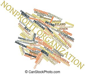 Nonprofit organization - Abstract word cloud for Nonprofit...